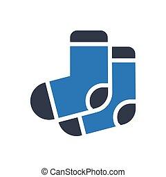 socks glyph color icon