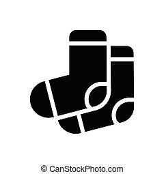 socks  glyph flat icon