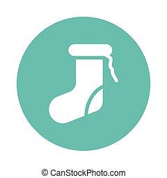 socks glyps color circle icon