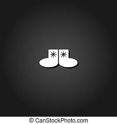 Socks icon flat.
