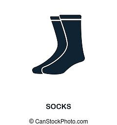 Socks icon. Flat style icon design. UI. Illustration of socks icon. Pictogram isolated on white. Ready to use in web design, apps, software, print.