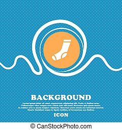 socks icon sign. Blue and white abstract background flecked with space for text and your design. Vector