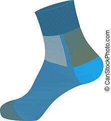socks in vector on white background