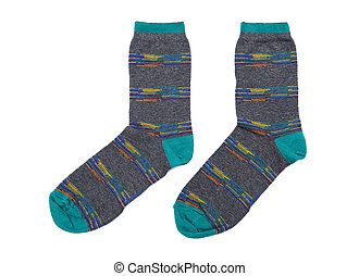 Socks isolated on the white background