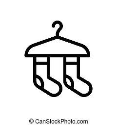 socks thin line icon