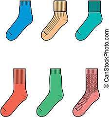 Socks - Vector illustration of socks