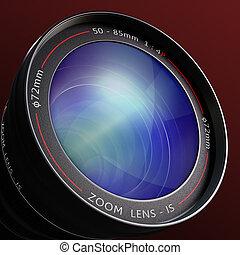 soczewka aparatu fotograficzny