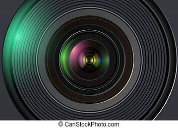 soczewka, tło, aparat fotograficzny, technologia