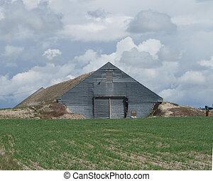 Sod Barn on Idaho Prairie