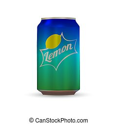 Soda aluminium can - Drink aluminium can isolated on white...