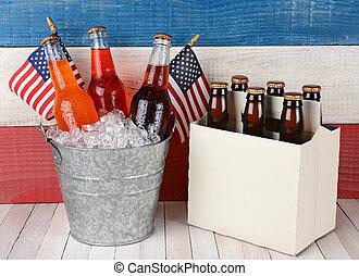 Soda and Beer Patriotic Background
