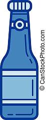 Soda bottle line icon.