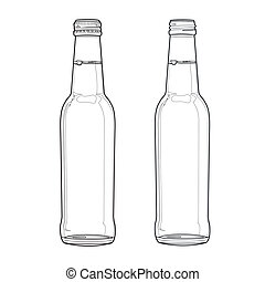 soda bottle out line vector - image of soda bottle vector...