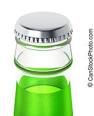 Soda bottle with metal cap. 3D illustration