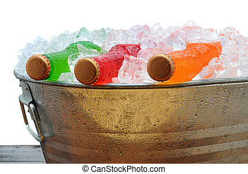 Soda Bottles in PArty Bucket