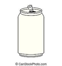 soda can icon, flat design
