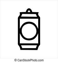 soda can icon isolated on white background from celebration collection.