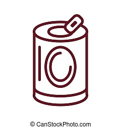 soda can icon, line style icon