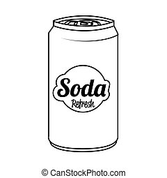 Soda can isolated flat icon, vector illustration. - Soda can...