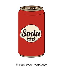 Soda can isolated flat icon, vector illustration.