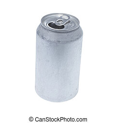 Soda can isolated on white background.