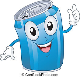 Mascot Illustration Featuring a Soda Can