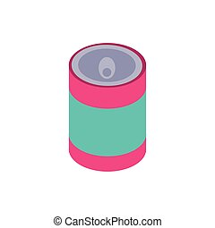 soda caned drink isolated icon
