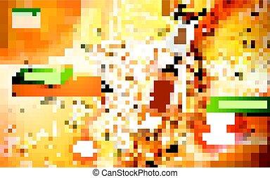soda carbonato arancia, annuncio, pop
