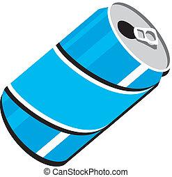 soda, clipart, lattina, vettore, disegno, pop