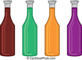 soda, colori, bottiglia