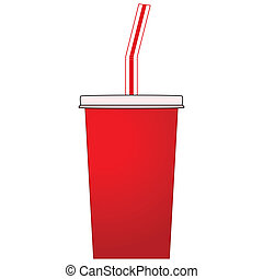 Soda cup - Illustration of a soda pop paper cup