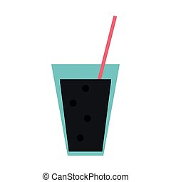 soda cup with straw