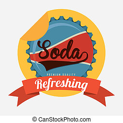 soda design  - soda graphic design , vector illustration