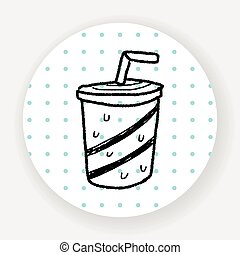 soda drink doodle drawing