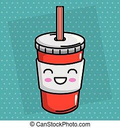 soda drink kawaii character