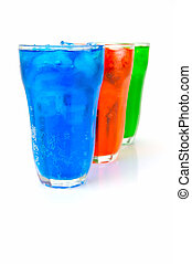 Soda Drinks - Soda drinks isolated against a white...
