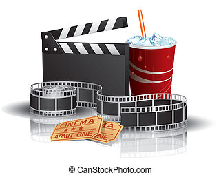 soda, filmstrip, bilhetes