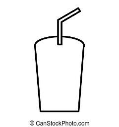 soda glass isolated icon