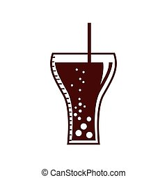 soda glass with straw icon