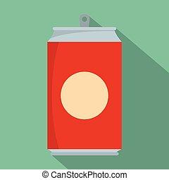 Soda icon, flat style