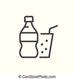 Soda line icon