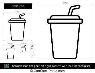 Soda line icon.