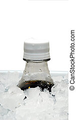 Soda on Ice - Soda on ice in cooler.  Clipping path.