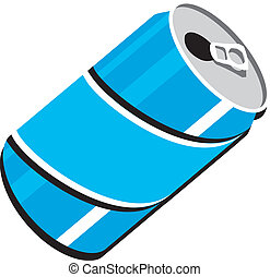 Soda Pop Can Vector Clipart Design Illustration created in ...