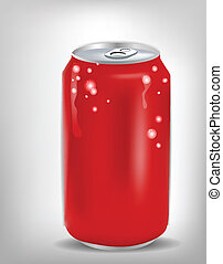 soda, röd, kan