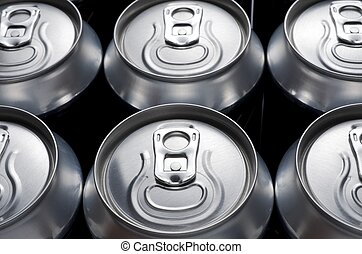 soda - group of an aluminum can of soda