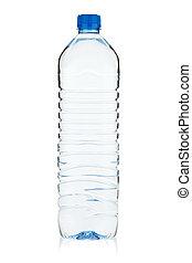 Soda water bottle. Isolated on white background