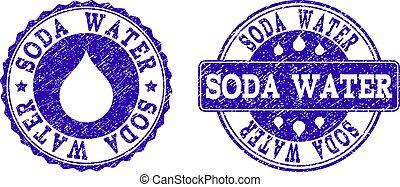 Soda Water Grunge Stamp Seals