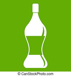 Soda water icon green - Soda water icon white isolated on...