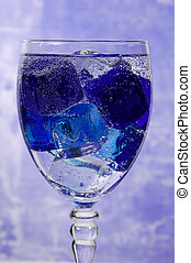 Soda Water - Glass With Ice and Soda Water